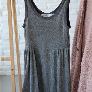 Free people silver mini dress sizeS good condition